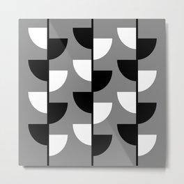 Climbing High - Black & White on Grey - Slices Series Metal Print