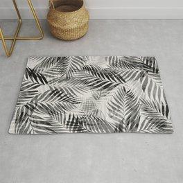 Palm Leaves - Black & White Rug