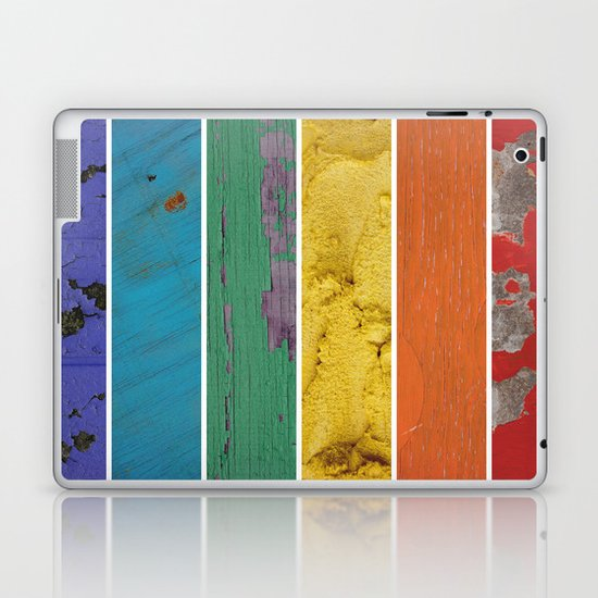 texture rainbow Laptop & iPad Skin