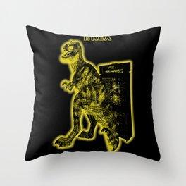 Electric Warriosaurus Throw Pillow