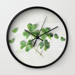 Shamrock Family Wall Clock