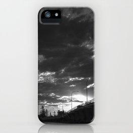 Bridge Sunset B/W iPhone Case