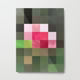 Pink Roses in Anzures 3 Abstract Rectangles 3 Metal Print