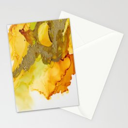 Gold Abstract 1 Stationery Cards