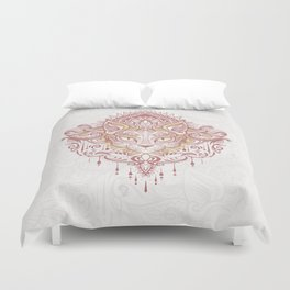 Cat mandala Duvet Cover