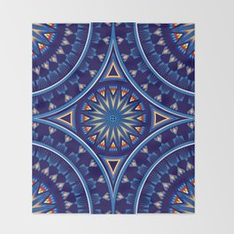 Blue Fire Keepers Throw Blanket