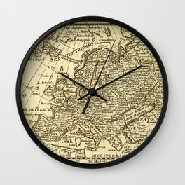 Vintage map of Europe Wall Clock