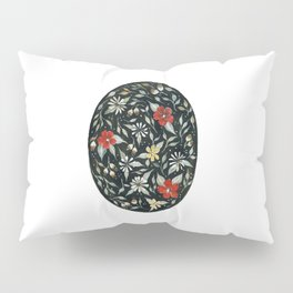 Southwest Style Oval Floral Gouache Painting Pillow Sham