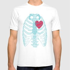 HEart Mens Fitted Tee SMALL White