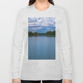 Sailing boats harbor Long Sleeve T-shirt