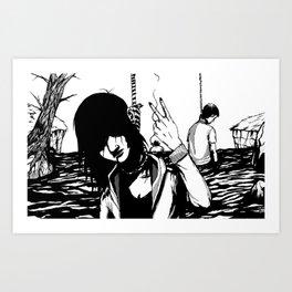 Imminence Falls Art Print