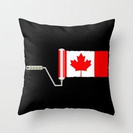 Paint Roller Canada Throw Pillow