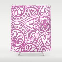 Dulce Paris Pink Shower Curtain