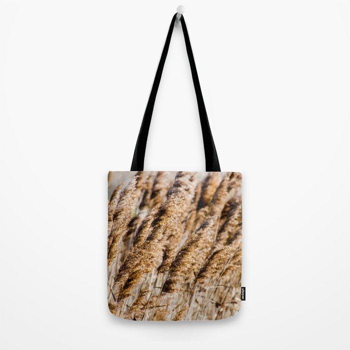 Brown Reeds Tote Bag