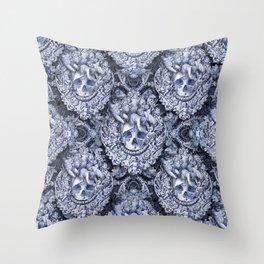 Skullique Throw Pillow