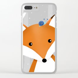 Fox and snail Clear iPhone Case
