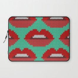 Lips pattern - sea Laptop Sleeve