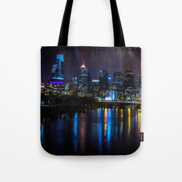 Philly Skyline Glowing Tote Bag