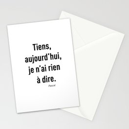 Rien à dire Stationery Cards