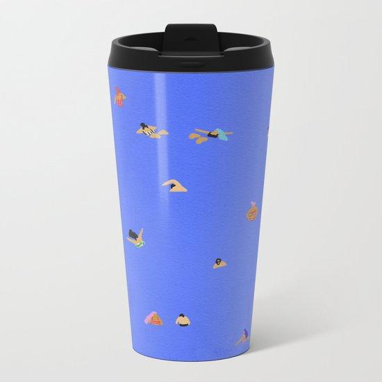 Electric blue Metal Travel Mug