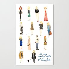 The Many Wondrous Outfits of Emma Stone Canvas Print