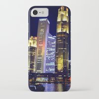 singapore iPhone & iPod Cases featuring Singapore Skyline by Mark Bagshaw Photography