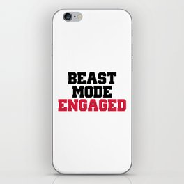 Beast Mode Engaged Gym Quote iPhone Skin