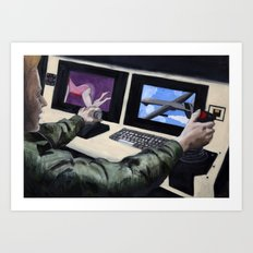 First Person Shooter Art Print