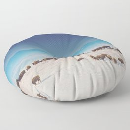 Blue Mountains Bison Floor Pillow