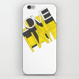 HATE LOVE iPhone Skin
