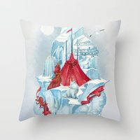 ice Throw Pillows featuring ice  by Tanya_tk