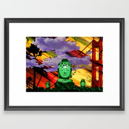 Buddha in color Framed Art Print