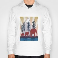 elephants Hoodies featuring Elephants by LoRo  Art & Pictures