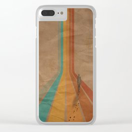 Walking The Retro Way Clear iPhone Case