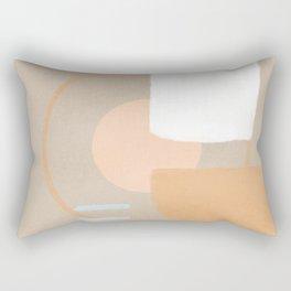Simple shapes boho minimalist design Rectangular Pillow