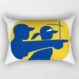 Caddie and Golfer Icon Rectangular Pillow