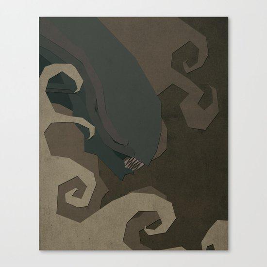 Paper Heroes - Alien Canvas Print