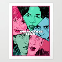 breakfast club Art Prints featuring Breakfast Club Colors by David Amblard