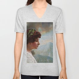 Escaping out of Pompeii Unisex V-Neck