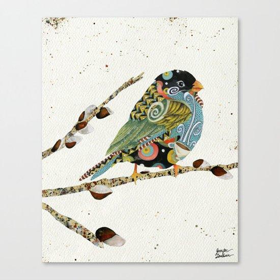 Cafe Swirly Bird 4 Canvas Print