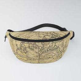 North Pole Centered World Map (1756) Fanny Pack