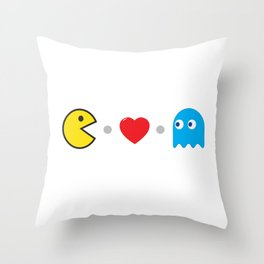 PAC-MAN HEART Throw Pillow
