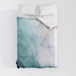 Beachy Pastel Flowing Ombre Abstract Comforters