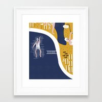 pool Framed Art Prints featuring POOL by Michela Buttignol