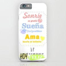 {ESP} SONRÍE · SUEÑA · AMA iPhone 6s Slim Case