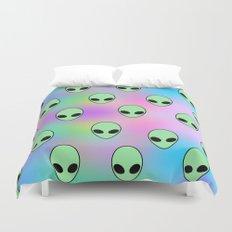 Aliens Tumblr Duvet Cover