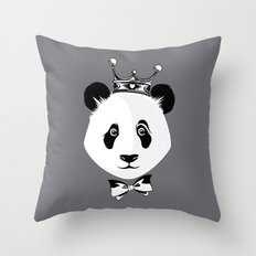 King Panda Throw Pillow