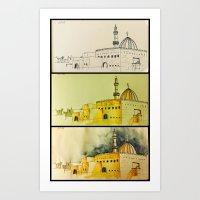 Doha Mosque Process Art Print