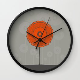 Poppies Poppies Poppies Wall Clock