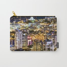 1549 Voyeuristic Vancouver Cityscape NightView over False Creek City Of Lights Canada Carry-All Pouch
